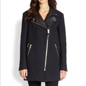 Mackage Phylis Wool and Leather Coat
